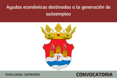 Ayudas económicas destinadas a la generación de autoempleo - ASPE - 2021