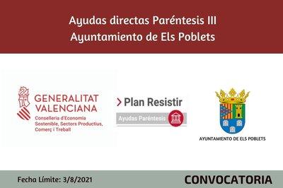 Ayudas Económicas Covid 19 - Ayuntamiento de Els Poblets
