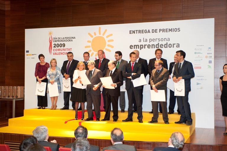 Premiados en la edición de 2009 del Día de la Persona Emprendedora de la CV