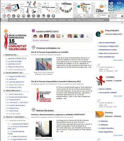 Página principal Macrojornada-Menú #2012