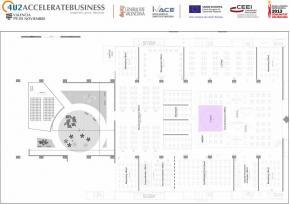 Plano 2D del Pabellón 5 Feria Valencia 2013