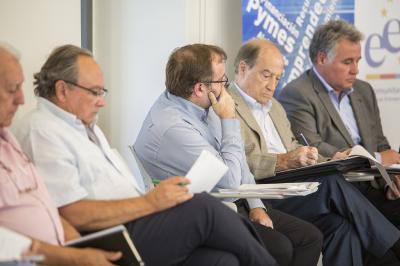 Representantes de SECOT, Manuel Amorós, Jesús Casanova y Roberto Payá en el Comité de Programación del DPECV2015