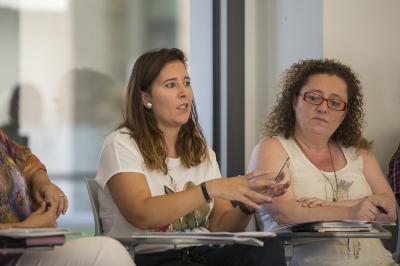 Pilar Aguado y Carmen Blasco en el Comité de Programación del DPECV2015