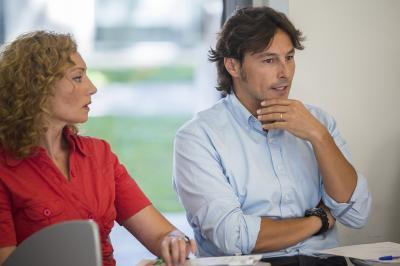 Mª José Portales y Ignacio Miranda en el Comité de Programación del DPECV2015