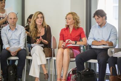 Javier Solsona, Pilar Gil, Mª José Portalés e Ignacio Miranda en el Comité de Programación del DPECV2015