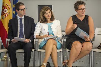 Justo Vellón, Ana Botella y Mª José Mira en el Comité de Programación del DPECV2015