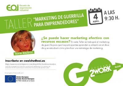 Taller Marketing de guerrilla para emprendedores