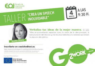 Taller Crea un speech inolvidable