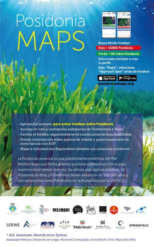 Posidonia Maps. App de la cartografía de Posidonia oceanica en Formentera e Ibiza