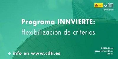 Ampliado el plazo de aplicación de las medidas de flexibilización del programa INNVIERTE