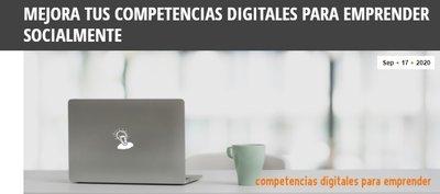 Ciclo Mejora tus competencias digitales para emprender socialmente