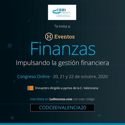 La Neurona Finanzas Comunidad Valenciana, congreso online para impulsar la gestión financiera ante la COVID19