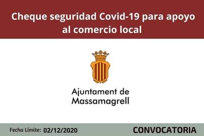 Cheque seguridad Covid al comercio local