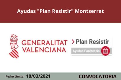 "Ayudas ""Plan Resistir"" Montserrat"