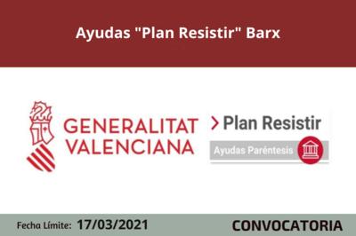 "Ayudas ""Plan Resistir"" Barx"