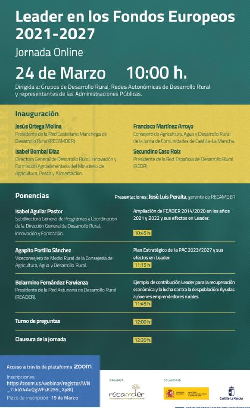 Jornada Online: Leader en los Fondos Europeos 2021-2027