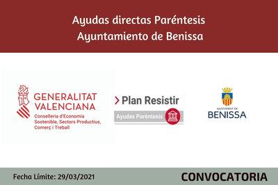 Ayudas Económicas Covid 19 - Ayuntamiento de Benissa