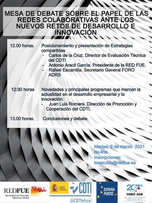 Mesa de Debate: El Papel de las Redes Colaborativas ante los Nuevos Retos de Desarrollo e Innovación
