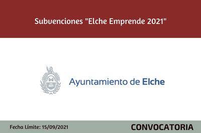 """Subvenciones """"Elche Emprende"""""""