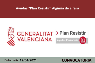 "Ayudas ""Plan Resistir"" Algimia de Alfara"
