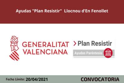 """Ayudas """"Plan Resistir"""" Llocnou d'En Fenollet"""