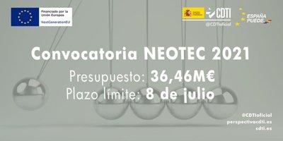 El Ministerio de Ciencia e Innovación lanza el Programa NEOTEC, gestionado por el CDTI.