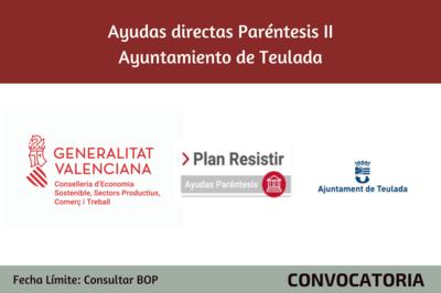 Ayudas Económicas Covid 19 - Ayuntamiento de Teulada