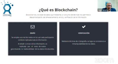 Javier Belarte explicó de forma sencilla la tecnología Blockchain.